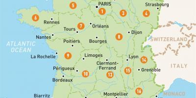 Paris Kart Kart Paris Ile De France Frankrike